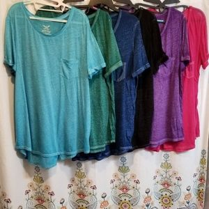 Bundle lot of tee shirts pink purple green black
